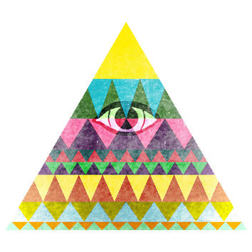 "Nick Nelson's ""Pyramid in Space"" wall decal"
