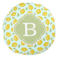 Lemons and Leaves Pattern and Monogram