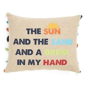 Levtex 'The Sun And The Sand And A Drink In My Hand' Pillow