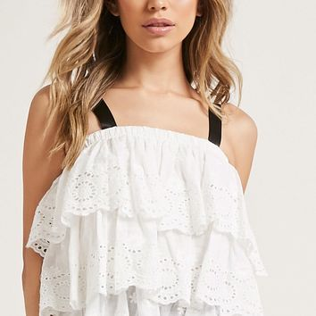 Tiered Eyelet Top