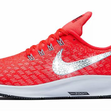 Nike Air Zoom Pegasus 35 + Crystals - Bright Crimson