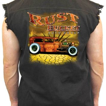 Men's Sleeveless Denim Shirt Rusty Bucket Auto Group