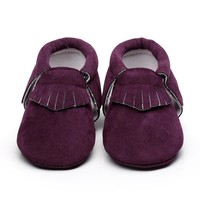 Baby Shoes Soft Bottom Fashion Tassels Baby Moccasin Newborn Babies Shoes PU Leather P