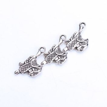 10pc/lot 22mm x 21mm horse saddle Charms Antique Silver Tone for lucky charms bracelet & necklace diy jewelry accessories