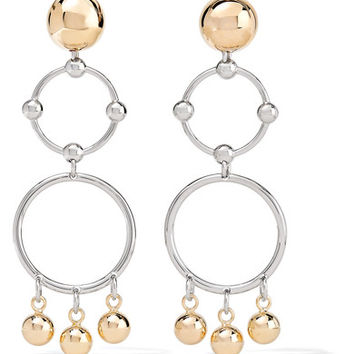 Eddie Borgo - Barbell Chandelier gold and silver-plated earrings