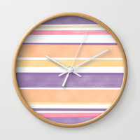 Between The Purple Lines Wall Clock by sm0w