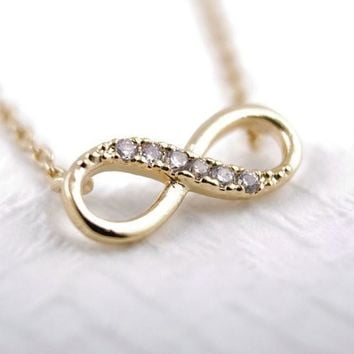 Sparkling Infinity Necklace