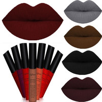 QiBest Sexy 26 Colors Waterproof Matte Long Lasting Liquid Lipstick Makeup Lip Glosses for Women Girls