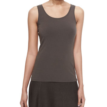 Perfect Jersey Scoop-Neck Tank, Size: