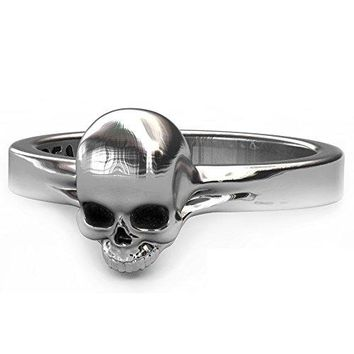 EVBEA Keith Richards Band Skull Ring Punk Gothic Cool Small Cute Skull Engagement Rings (9)