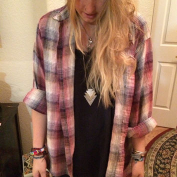 Hipster pink flannel