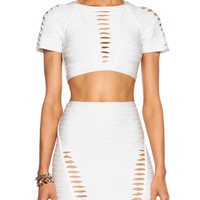 Short Sleeve Two Piece Dress With Cutout Details