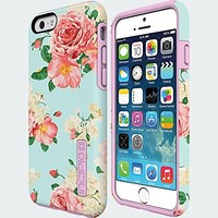 "Incipio DualPro® for iphone 6 Small 4.7"" Display -MINT ROSE Prints Case in Retail Package"
