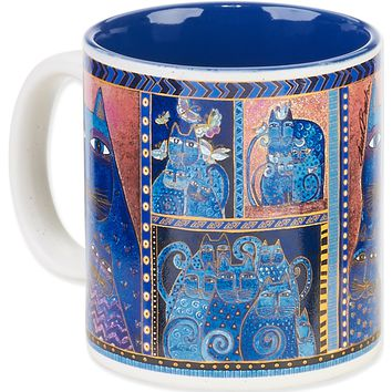 Indigo Cats Portrait Laurel Burch Artistic Mug Collection
