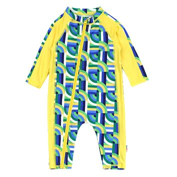 """Sunsuit - Long Sleeve Romper with UPF 50+ UV Sun Protection 