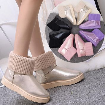 Hot Deal On Sale Thicken Cotton Shoes Winter Anti-skid Boots [47582838791]