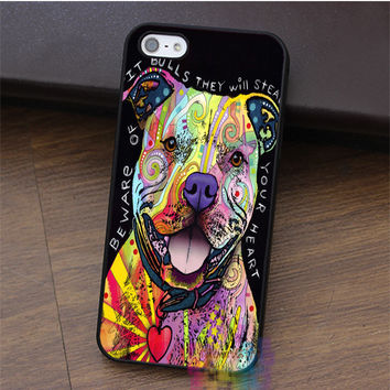Beware of Pit Bulls fashion cell phone case for iphone 4 4s 5 5s 5c SE 6 6s 6 plus 6s plus 7 7 plus #LI0330