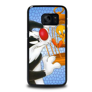SYLVESTER AND TWEETY Looney Tunes Samsung Galaxy S7 Edge Case Cover