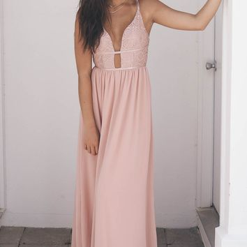 Sweet Love Of Mine Mauve Dress