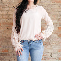 Rowena Lace Top - Blush
