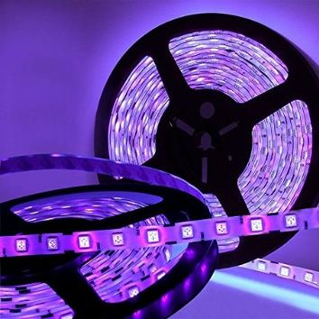 Joygo 16Ft 5050 SMD Waterproof 300 UV Ultraviolet LED Black Light Night Fishing Strip