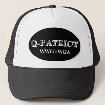 Q-PATRIOT WWG1WGA MEN'S TRUCKER HAT
