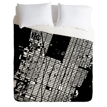 CityFabric Inc NYC Midtown Black Duvet Cover