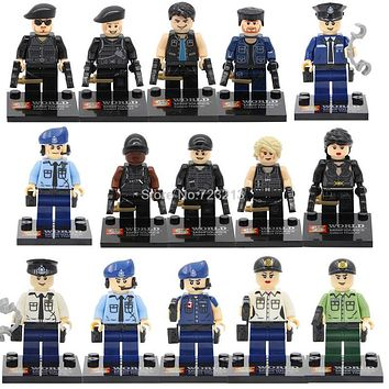 Single Sale SY The Expendables Military Modern SWAT Figure Police Bricks building blocks set Model Toys for Children SY260 SY278