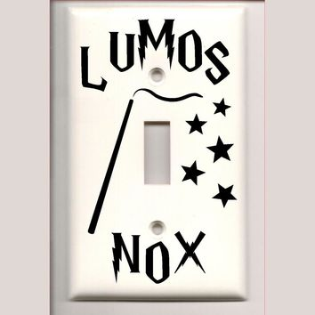 Harry Potter Lumos Nox Light Switch Cover Vinyl Decal Stickers Home Decor A1000