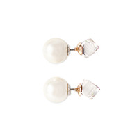 Rhinestone and Faux Pearl Combo Studs
