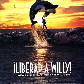 Free Willy (Spanish) 27x40 Movie Poster (1992)