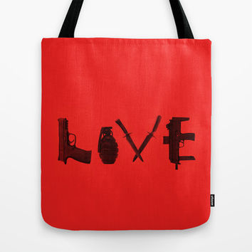 LOVE - Bloody Valentine Tote Bag by Catalin Anastase