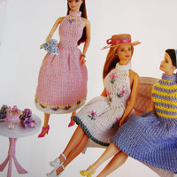 Barbie Clothes Knitting Patterns Book for Barbie & Ken Doll Clothes Patterns 75 fashions