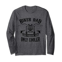 Biker Dad Long Sleeve T-shirt - Shirt for Motorcycle Fathers