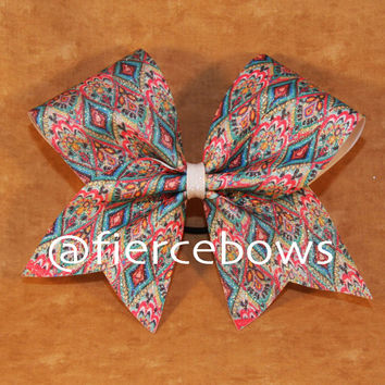 Lilly Inspired Crown Jewels Sublimated Glitter Bow