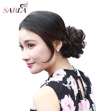 ONETOW SARLA Synthetic Hair Chignons Elastic Scrunchie Extensions Hair Ribbon Ponytail Hair Bundles Updo Hairpieces Hair Buns H2
