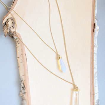 Layered Crystals Necklace