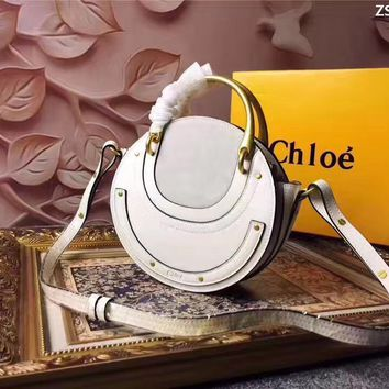 Chloe Women's Hot Style Leather Gold Handbag Shoulder Bag