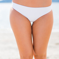Margaritas In Mexico Seamless Cheeky Bikini Bottom (White)
