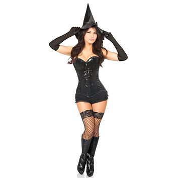 Daisy Top Drawer 4 PC Bad Witch Corset Costume
