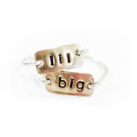 Big/Lil Rectangular Ring Set