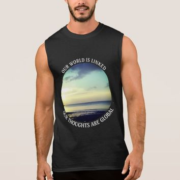 Global Photo Quote by Kat Worth Sleeveless Shirt