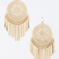 Win At Life - Round Medallion Dangle Earrings