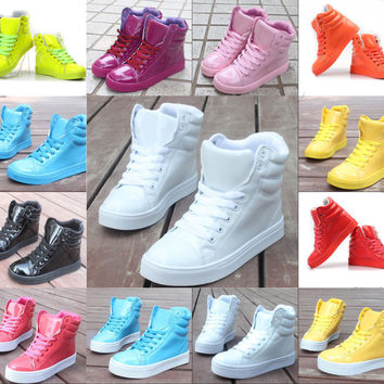 Unisex High fashion Candy color cute sweet Hip-hop sports shoes boots Sneakers