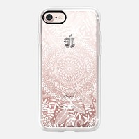 Nature's Tribe white translucent mandala iPhone 7 Case by Micklyn Le Feuvre | Casetify