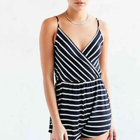 BDG Surplice Stripe Knit Romper