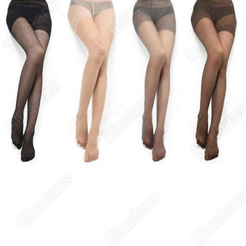 full Foot Women's Long Stockings thin Semi Sheer Tights Pantyhose Panties