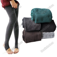Women's Fashion Comfortable Cotton Tights Pants Stirrup Leggings Winter Warm New