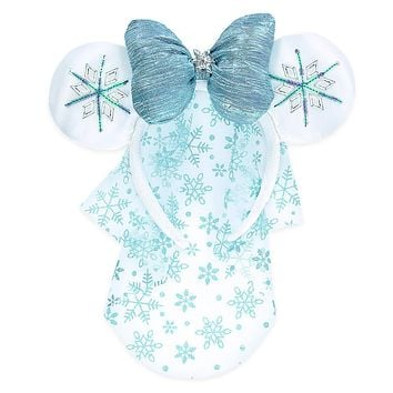 Disney Parks Christmas Minnie Mouse Snowflake Ear Headband Holiday New with Tags