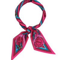 Whimsy Skinny Mini Scarf with Butterfly Print
